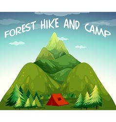 Hiking campsite vector image vector image
