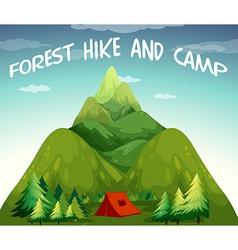 Hiking campsite vector