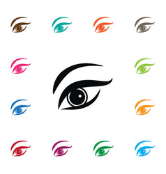 isolated eyelid icon eyesight element can vector image vector image