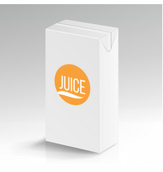 Juice package realistic mock up carton vector