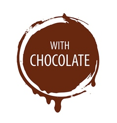 logo round seal for chocolate vector image
