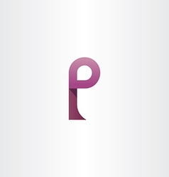Logotype purple symbol letter p icon element vector