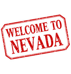 Nevada - welcome red vintage isolated label vector