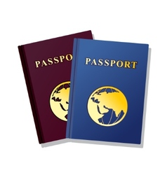 Passport isolated on white background vector