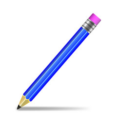 pencil on white background isolated vector image