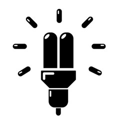 powersave lamp icon simple style vector image