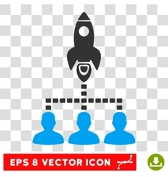 Rocket space community eps icon vector