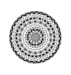 round mandala ethnic decorative ornament vector image vector image