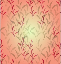 Seamless background with climbing plants eps10 vector