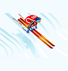 skier jump 3d vector image