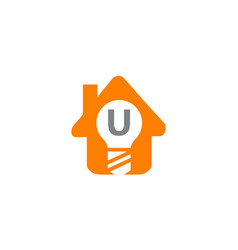smart home initial u vector image vector image
