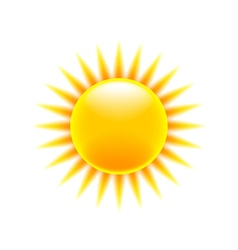 Sun icon isolated on white vector image