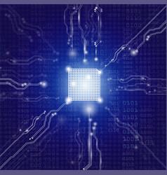 tecvhnolgy chip vector image vector image