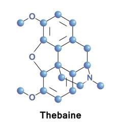 Thebaine opiate alkaloid vector