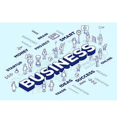 three dimensional word business with peop vector image vector image
