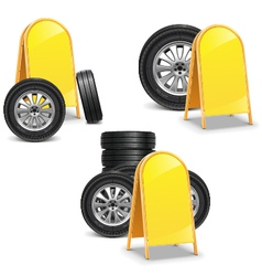 Tires with billboard vector