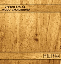 Wooden box texture vector