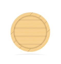 wooden empty signboard badge wood texture vector image vector image