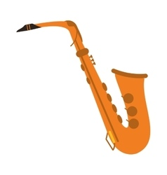 Single saxophone icon vector
