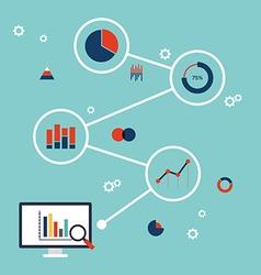 Business data information analysis flat design vector