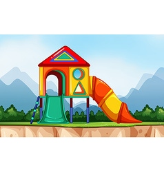 Scene with playground in the park vector
