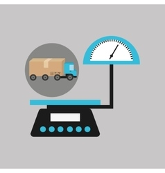 Delivery truck concept weight scale icon vector