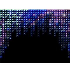 horizontal rhinestone mosaic vector image