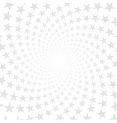 twisted stars spiral abstract background vector image