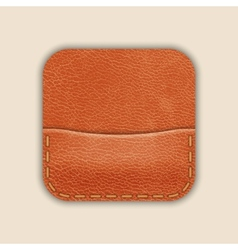 Natural leather pocket or wallet app icon template vector