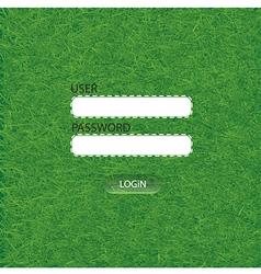 Grass login Web Elements vector image