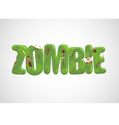 Zombie Text vector image