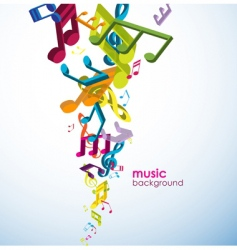 3d music background vector