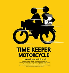 Time keeper motorcycle vector