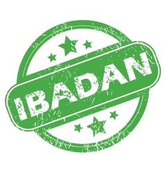 Ibadan green stamp vector