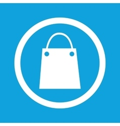 Shopping bag sign icon vector