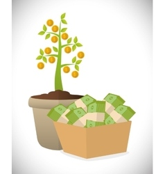 Financial growth design vector