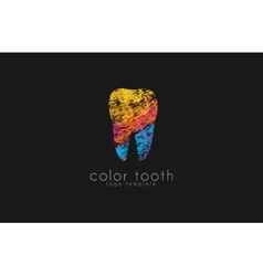 Logo Template Silhouettes of Tooth with vector image