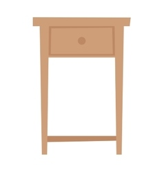 Bedside table household furniture stand flat vector