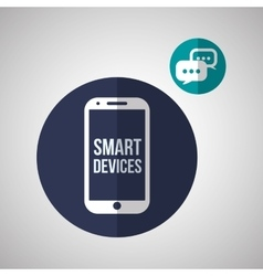 Smart device design gadget icon isolated vector