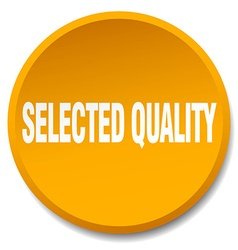 Selected quality orange round flat isolated push vector