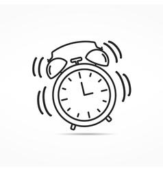 Alarm clock line icon vector