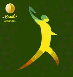 Brazil summer sport card with an yellow abstract d vector image