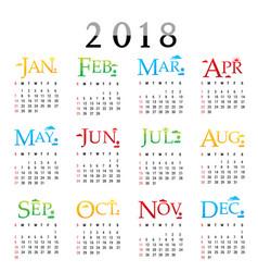Calendar planner happy new year 2018 vector