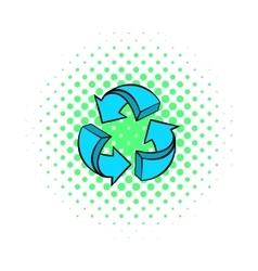 Circular arrows icon comics style vector image vector image