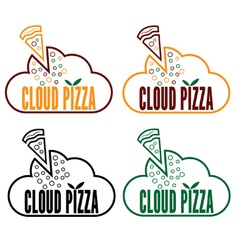 cloud pizza vector image