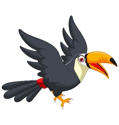 Cute cartoon toucan bird vector image