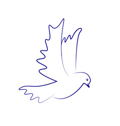 Dove icon flying dove vector