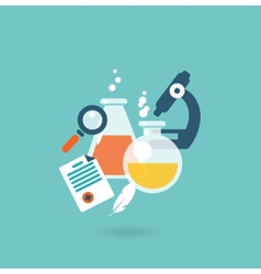 Flat design concept for chemistry vector image
