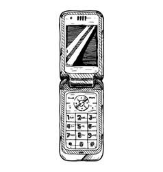 flip phone vector image vector image