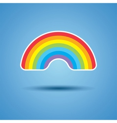 icon of rainbow vector image vector image